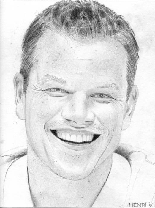 Matt Damon by Riton